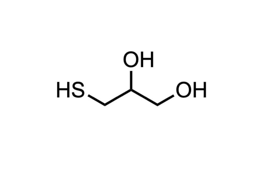 α-チオグリセロールの構造式