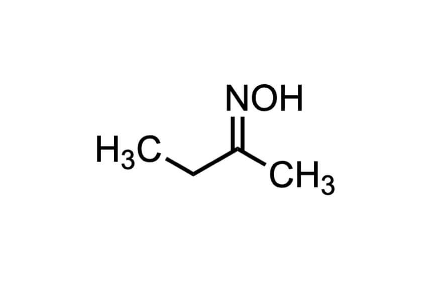 2-ブタノンオキシムの構造式
