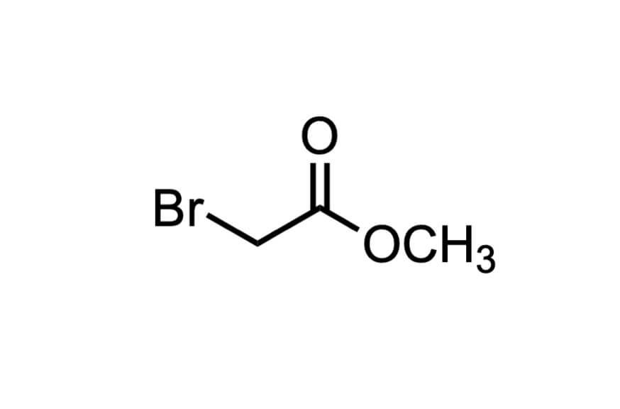 ブロモ酢酸メチルの構造式