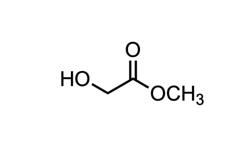 グリコール酸メチルの構造式