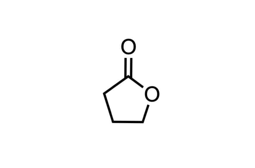 γ-ブチロラクトンの構造式
