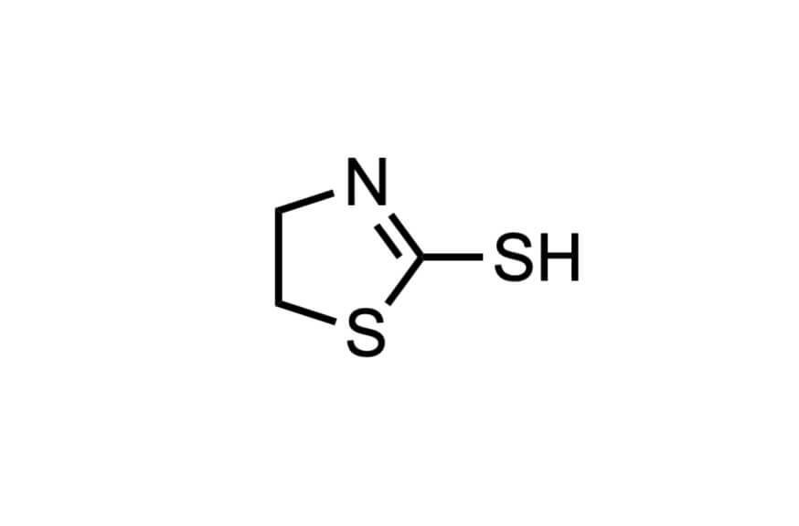 2-メルカプトチアゾリンの構造式