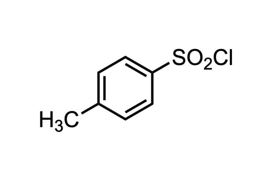 p-トルエンスルホニルクロリドの構造式