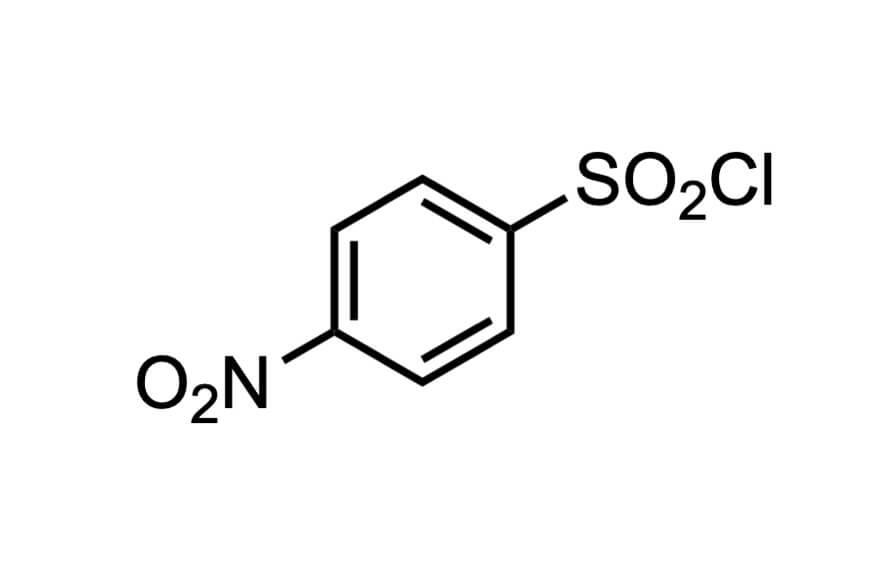 4-ニトロベンゼンスルホニルクロリドの構造式