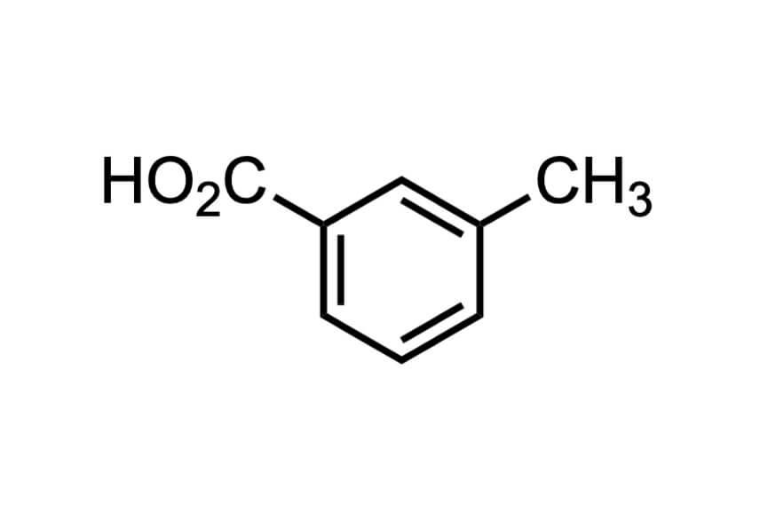 3-メチル安息香酸の構造式