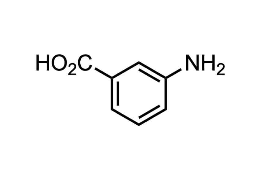 3-アミノ安息香酸の構造式