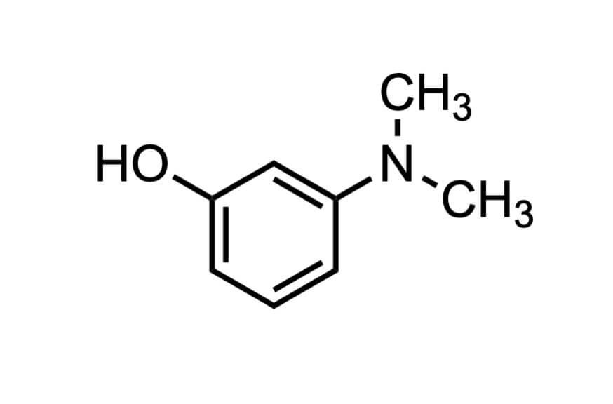 3-(ジメチルアミノ)フェノールの構造式