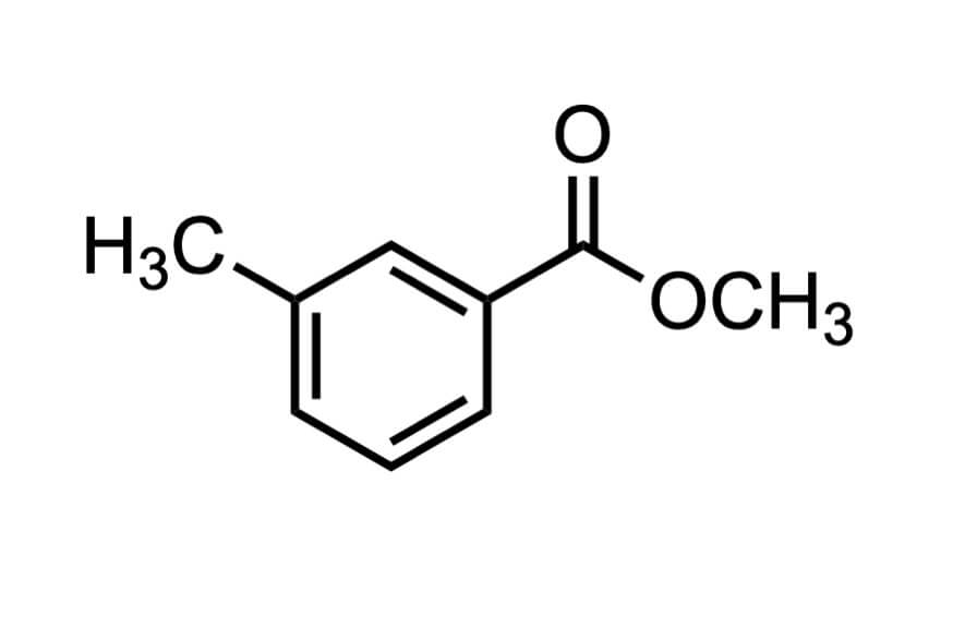 m-トルイル酸メチルの構造式