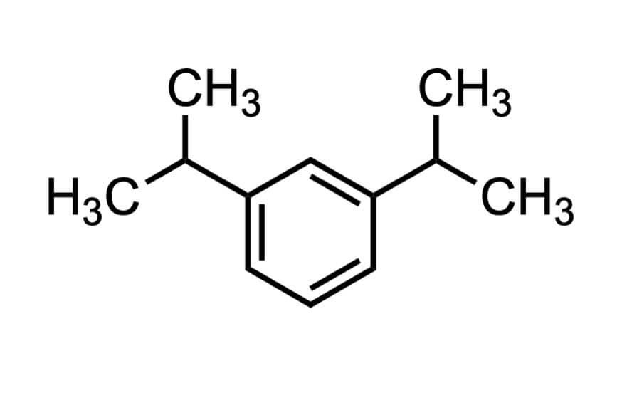 1,3-ジイソプロピルベンゼンの構造式