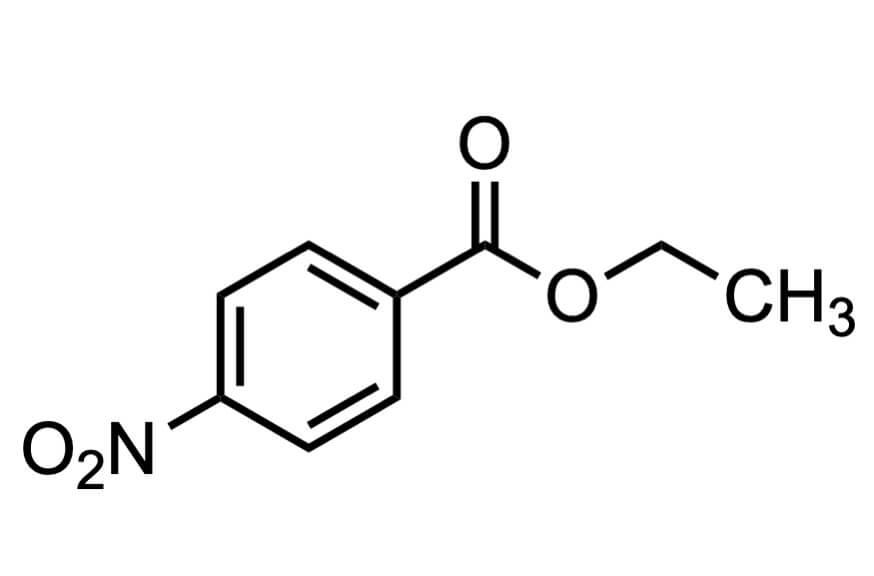 4-ニトロ安息香酸エチルの構造式