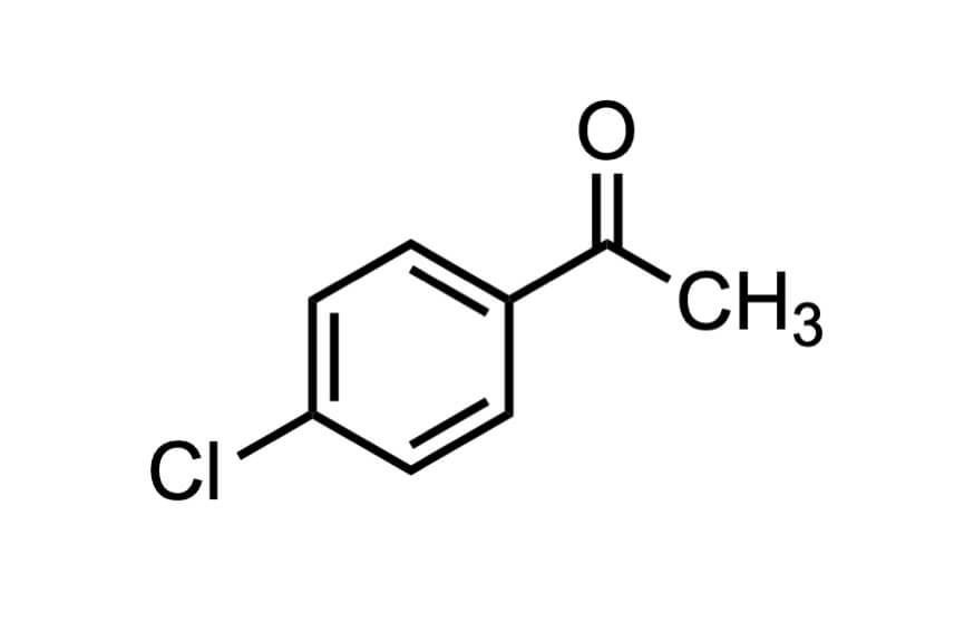 4'-クロロアセトフェノンの構造式