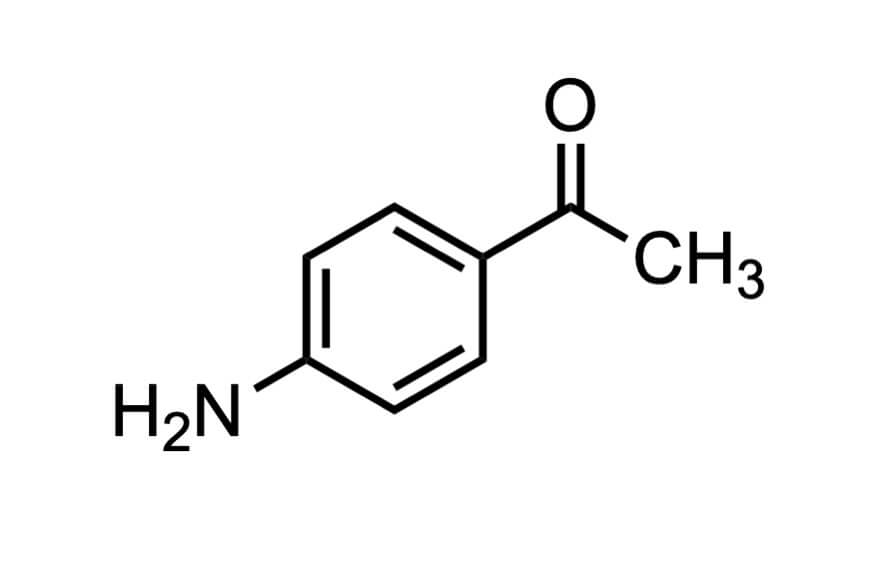 4'-アミノアセトフェノンの構造式