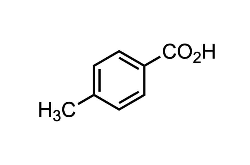 p-トルイル酸の構造式