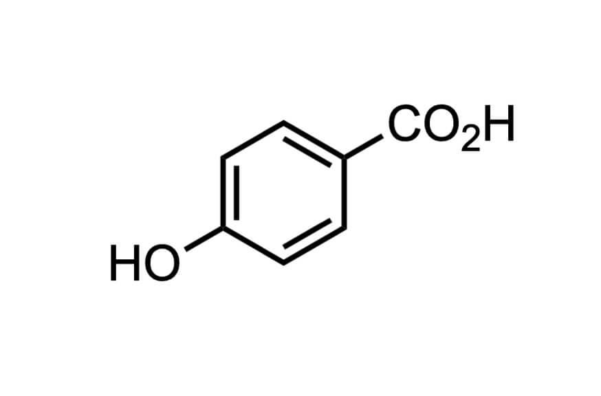 4-ヒドロキシ安息香酸の構造式