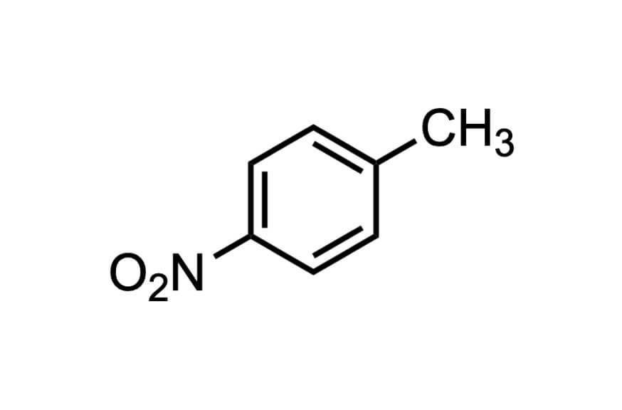 4-ニトロトルエンの構造式