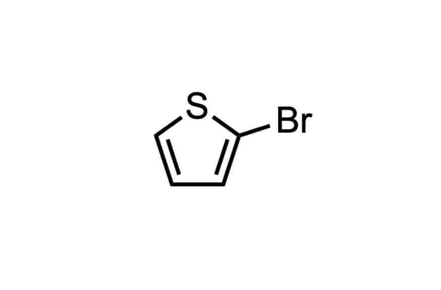 2-ブロモチオフェンの構造式