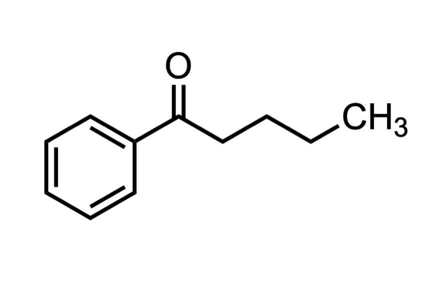 バレロフェノンの構造式