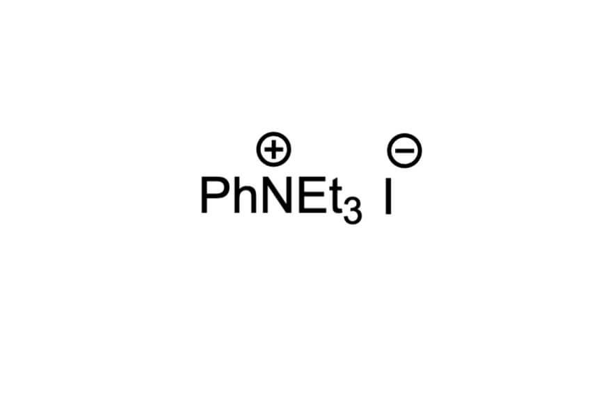 トリエチルフェニルアンモニウムヨージドの構造式