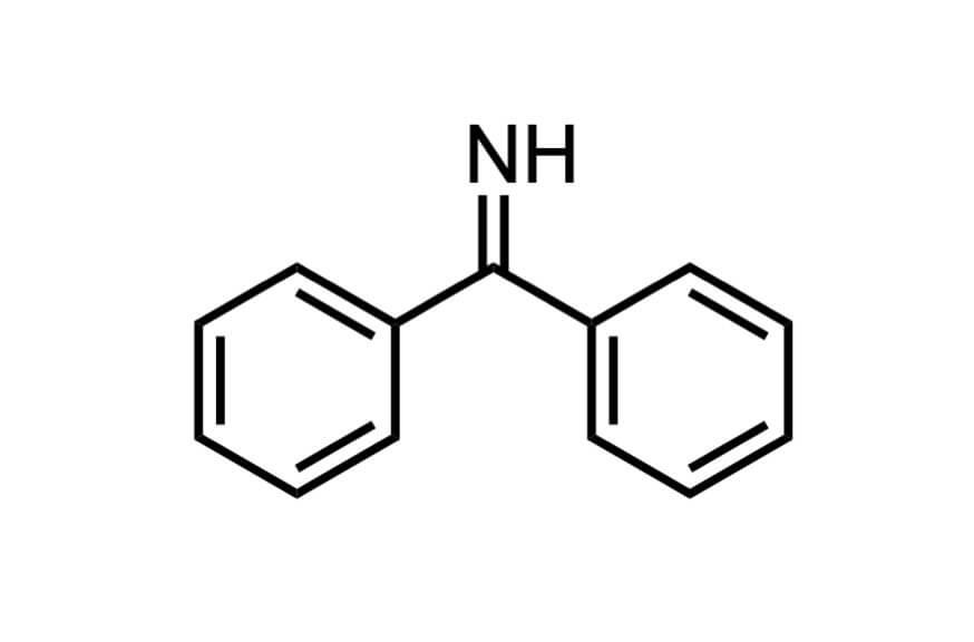 ベンゾフェノンイミンの構造式