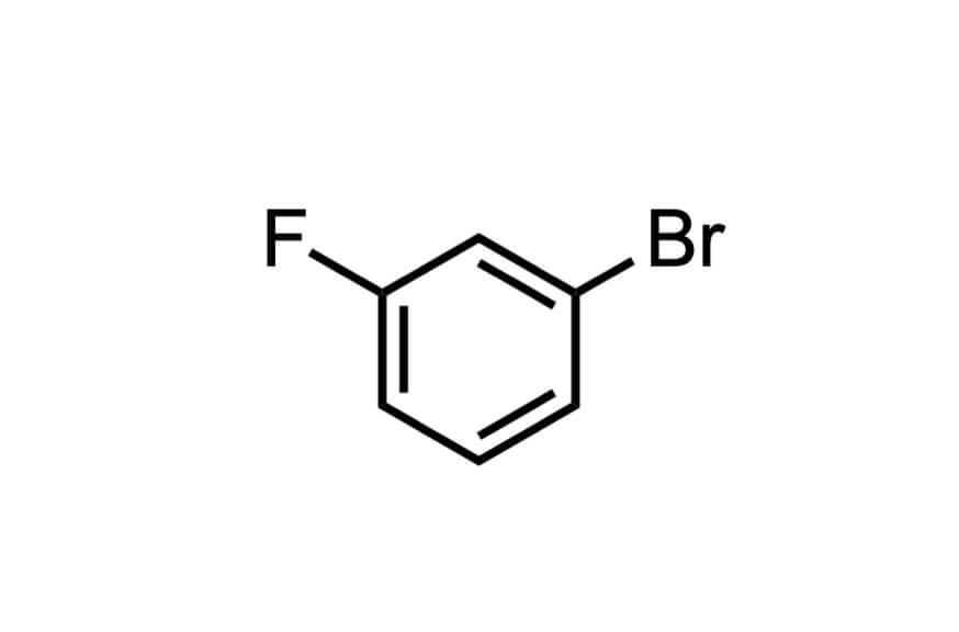 3-ブロモフルオロベンゼンの構造式