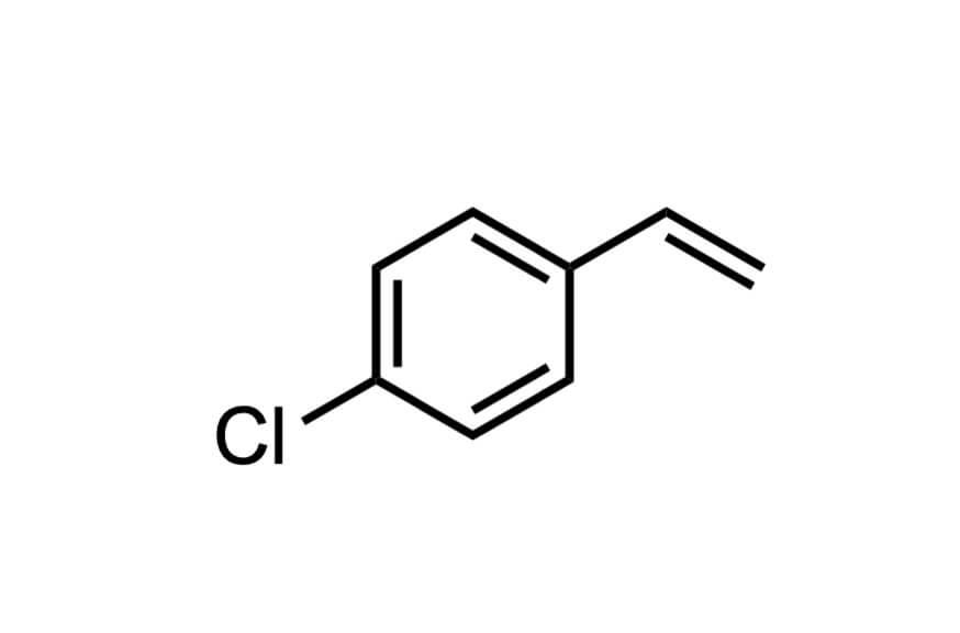 4-クロロスチレンの構造式