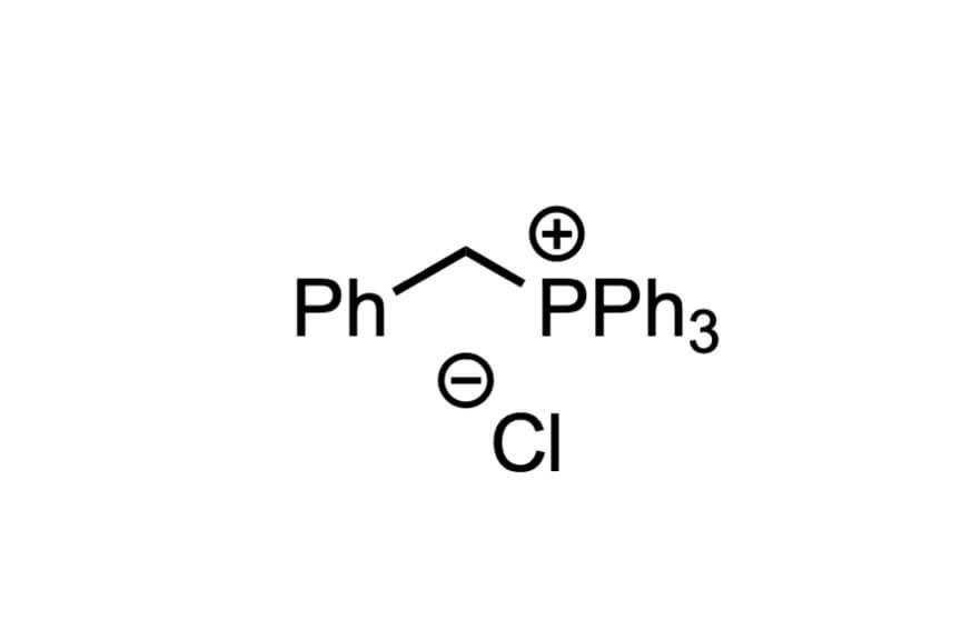 ベンジルトリフェニルホスホニウムクロリドの構造式