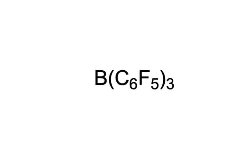 トリス(ペンタフルオロフェニル)ボランの構造式