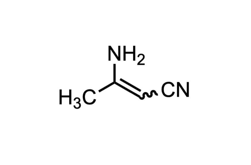3-アミノクロトノニトリルの構造式