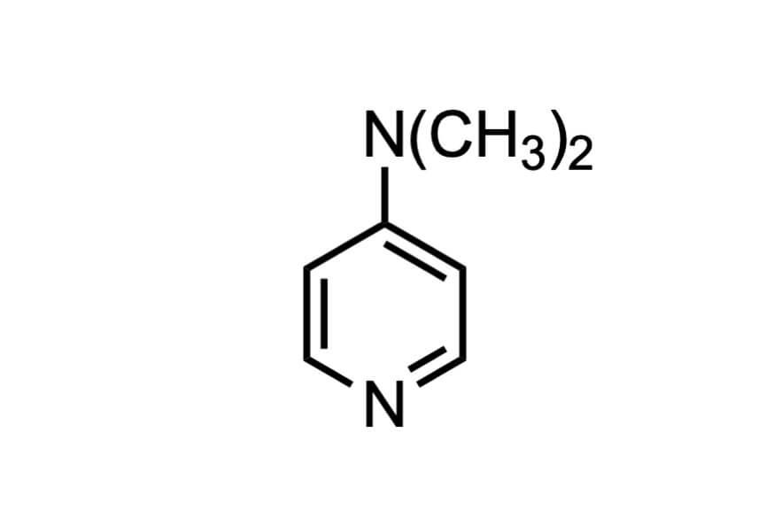 4-ジメチルアミノピリジンの構造式