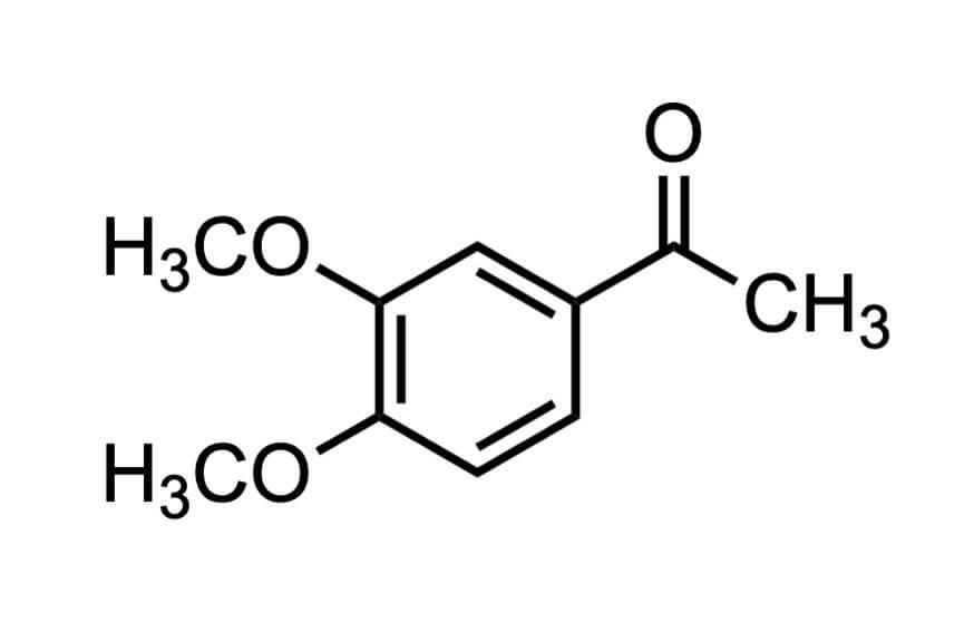 3',4'-ジメトキシアセトフェノンの構造式