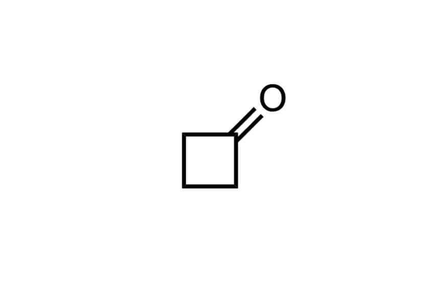 シクロブタノンの構造式