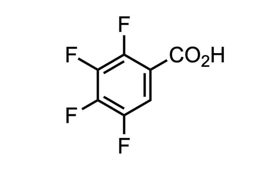 2,3,4,5-テトラフルオロ安息香酸の構造式