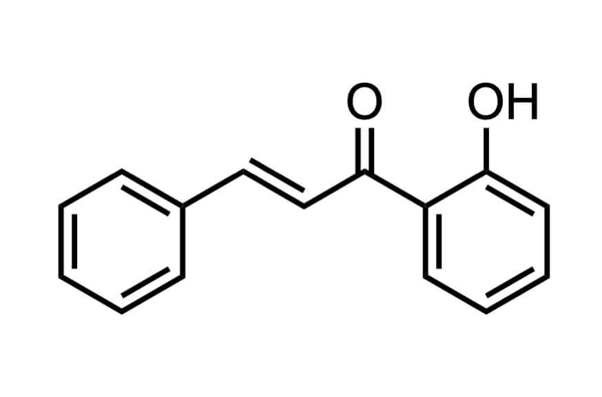 2'-ヒドロキシカルコンの構造式