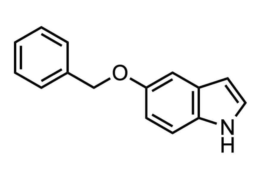 5-ベンジルオキシインドールの構造式
