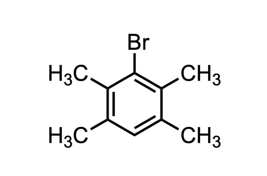 1-ブロモ-2,3,5,6-テトラメチルベンゼンの構造式