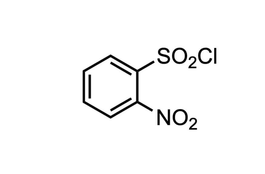 2-ニトロベンゼンスルホニルクロリドの構造式