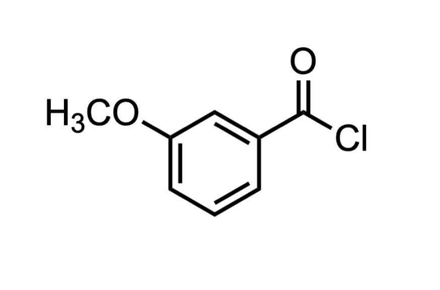 3-メトキシベンゾイルクロリドの構造式