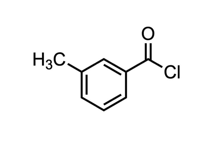 m-トルオイルクロリドの構造式