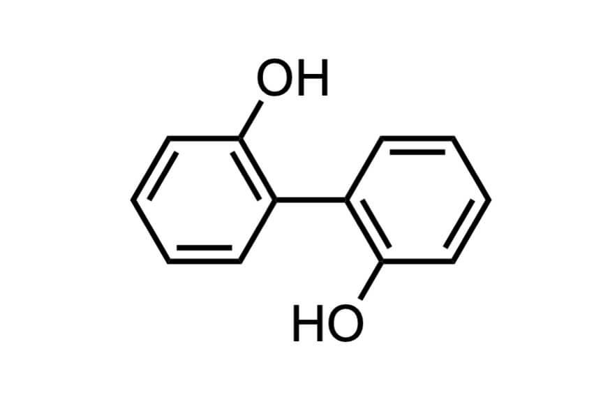 2,2'-ジヒドロキシビフェニルの構造式
