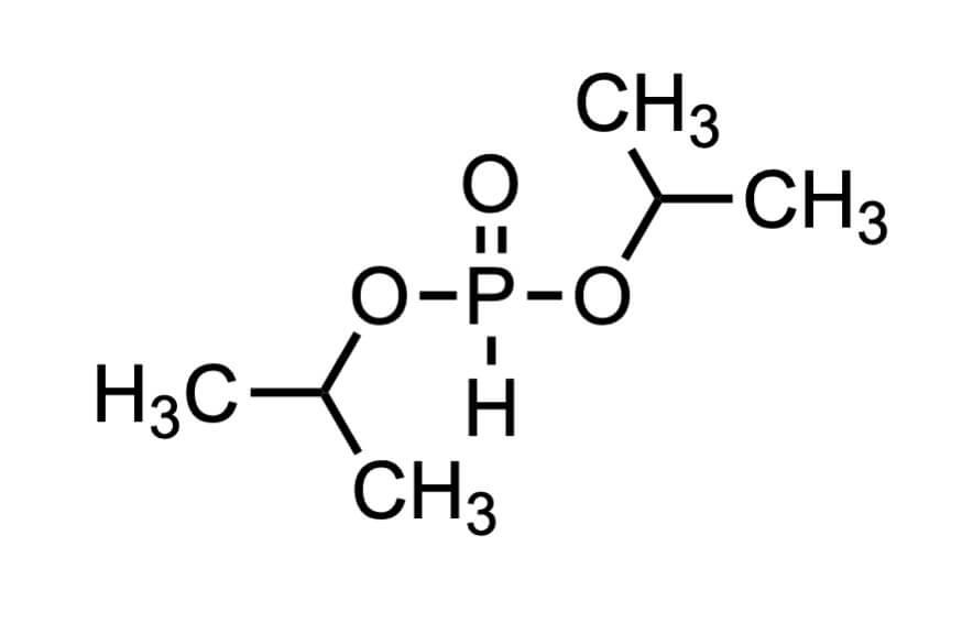 亜りん酸ジイソプロピルの構造式