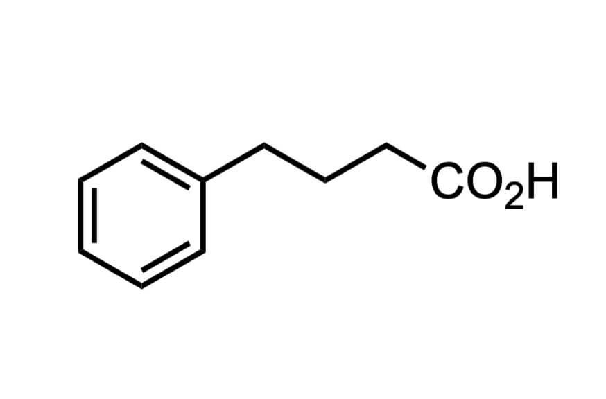 4-フェニル酪酸の構造式