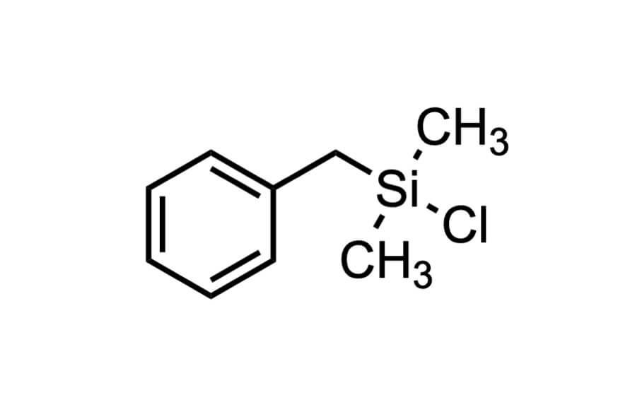 ベンジルクロロジメチルシランの構造式