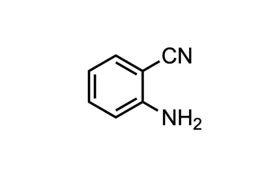 2-アミノベンゾニトリルの構造式