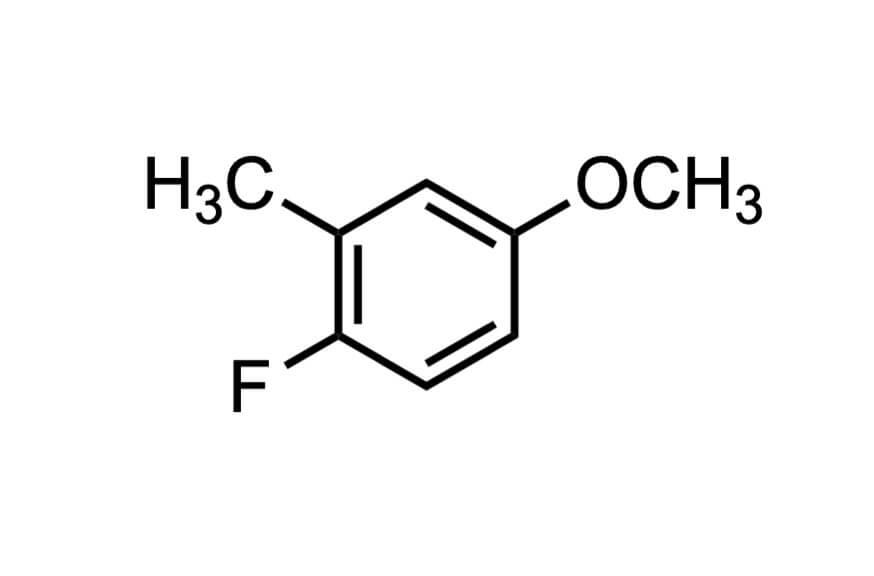 4-フルオロ-3-メチルアニソールの構造式