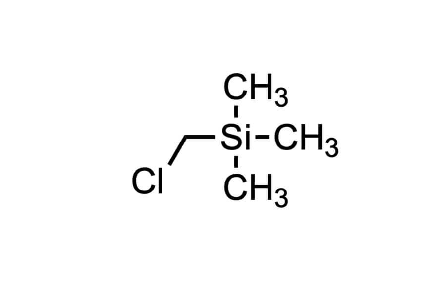 (クロロメチル)トリメチルシランの構造式