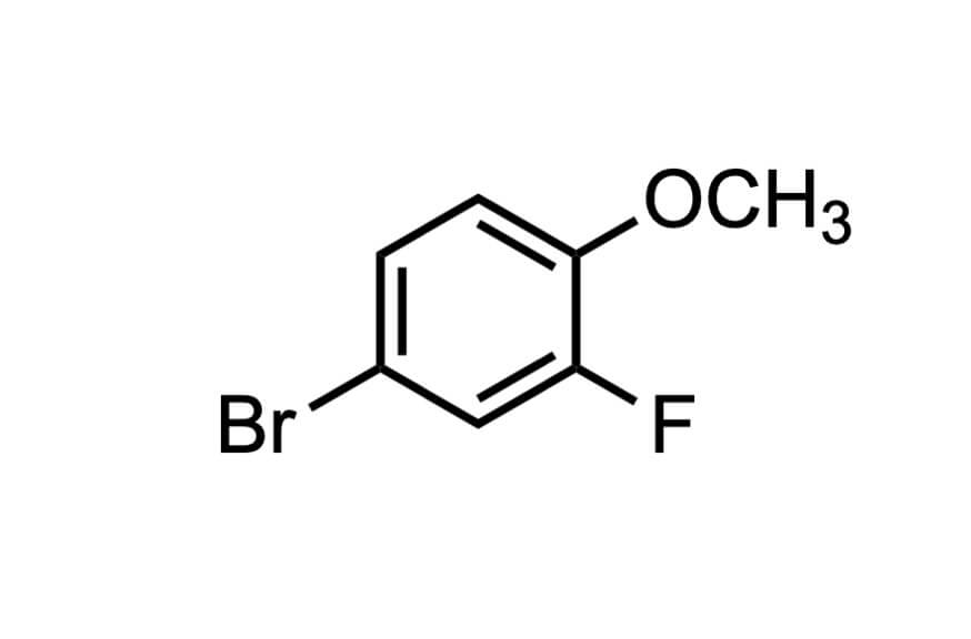 4-ブロモ-2-フルオロアニソールの構造式