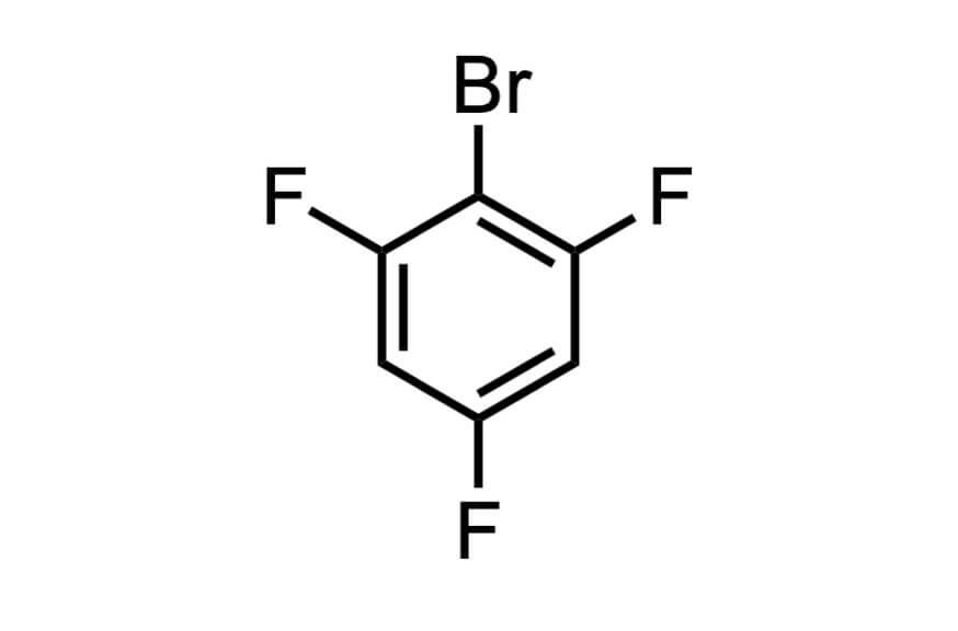 1-ブロモ-2,4,6-トリフルオロベンゼンの構造式