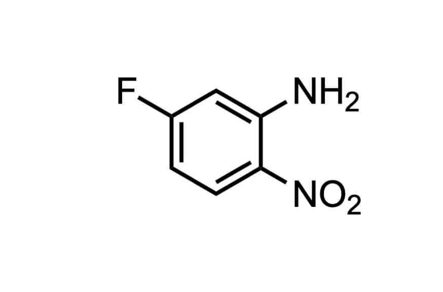 5-フルオロ-2-ニトロアニリンの構造式