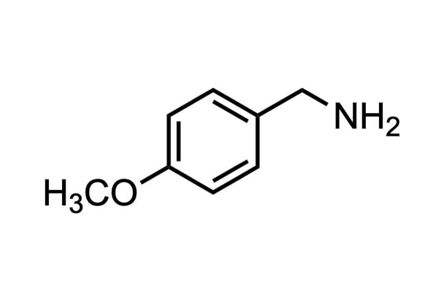 4-メトキシベンジルアミンの構造式