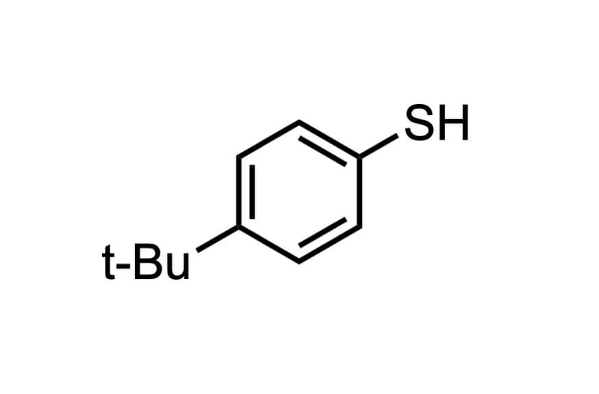 4-tert-ブチルベンゼンチオールの構造式